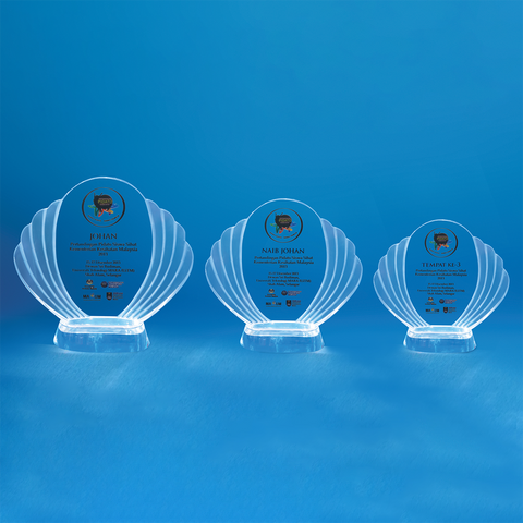 Crystal Plaque | D4036 A/B/C - D One Crystal Award Trophy Malaysia