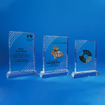 Crystal Plaque | D4039 A/B/C - D One Crystal Award Trophy Malaysia