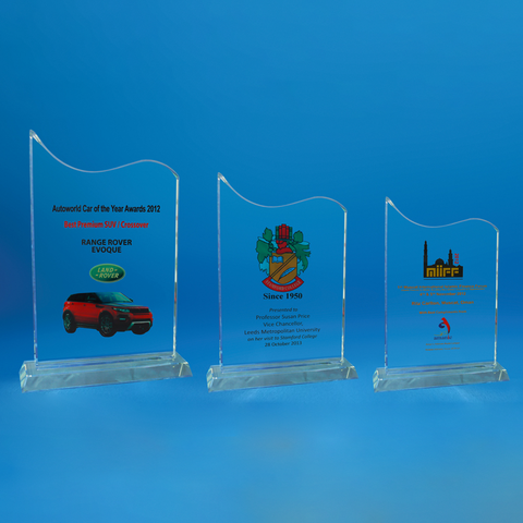 Crystal Plaque | D4045 A/B/C - D One Crystal Award Trophy Malaysia