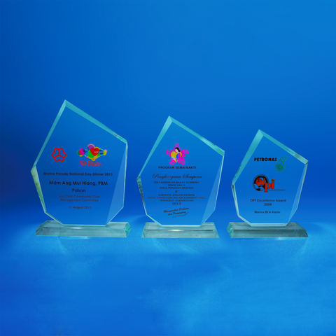 Crystal Plaque | D4046 A/B/C - D One Crystal Award Trophy Malaysia