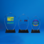 Crystal Plaque | D4047 A/B/C - D One Crystal Award Trophy Malaysia