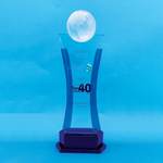 Crystal Trophy | D4064 - D One Crystal Award Trophy Malaysia