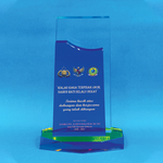 Crystal Plaque | D4066 - D One Crystal Award Trophy Malaysia