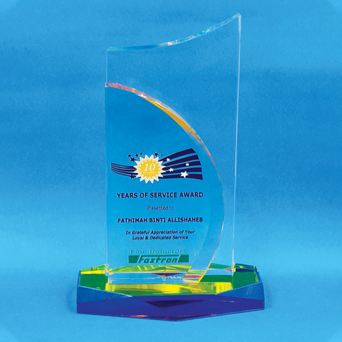 Crystal Plaque | D4067 - D One Crystal Award Trophy Malaysia