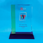 Crystal Plaque | D4068 - D One Crystal Award Trophy Malaysia