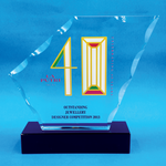 Crystal Plaque | D4069 - D One Crystal Award Trophy Malaysia