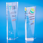Crystal Trophy | D5007 A/B - D One Crystal Award Trophy Malaysia