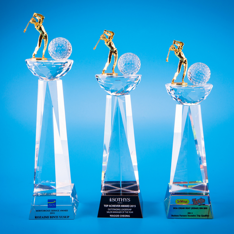 Crystal Trophy | D5014 A/B/C - D One Crystal Award Trophy Malaysia