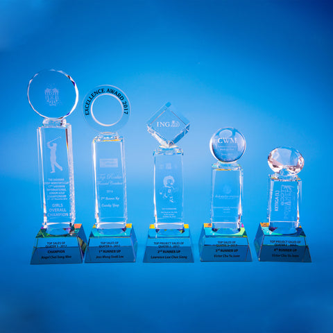 Crystal Trophy | D5017 A/B/C/D/E - D One Crystal Award Trophy Malaysia