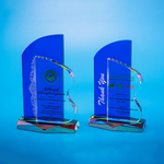 Crystal Plaque | D5022 A/B - D One Crystal Award Trophy Malaysia