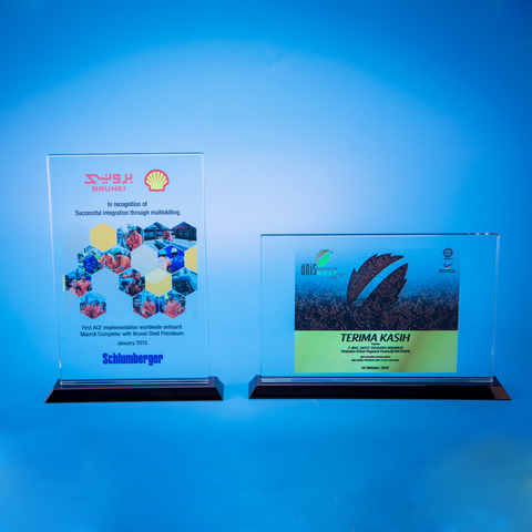 Crystal Plaque | D5023 A/B - D One Crystal Award Trophy Malaysia
