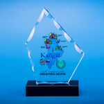 Crystal Plaque | D5024 - D One Crystal Award Trophy Malaysia