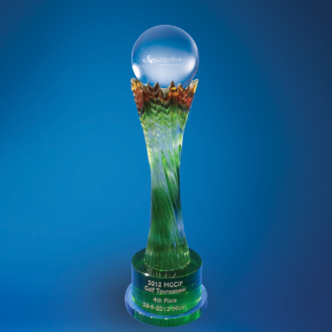 Liu Li Series | DLL-001 - D One Crystal Award Trophy Malaysia