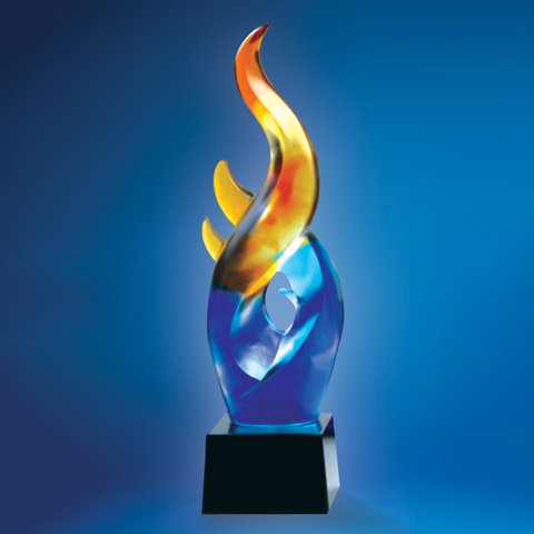 Liu Li Series | DLL-002 - D One Crystal Award Trophy Malaysia
