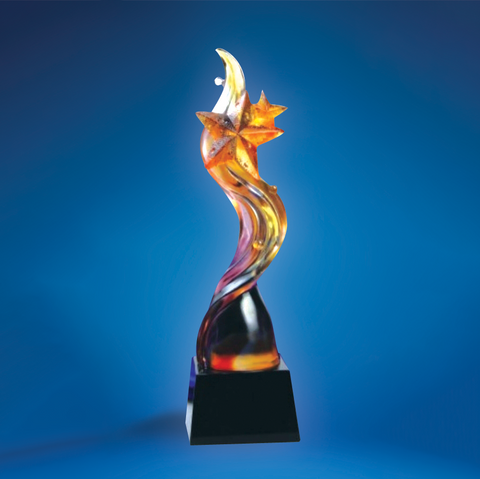 Liu Li Series | DLL-003 - D One Crystal Award Trophy Malaysia