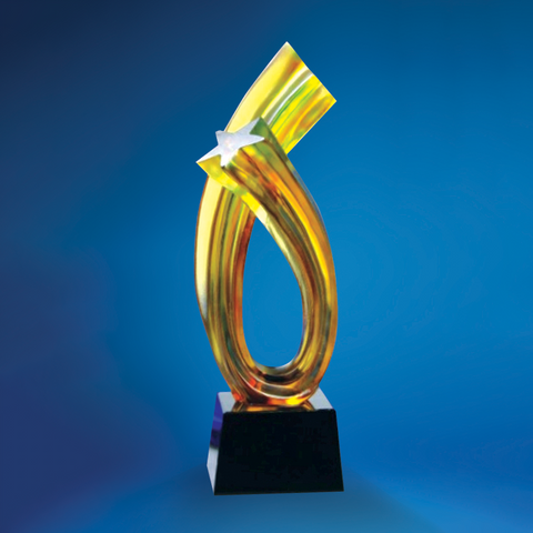 Liu Li Series | DLL-009 - D One Crystal Award Trophy Malaysia