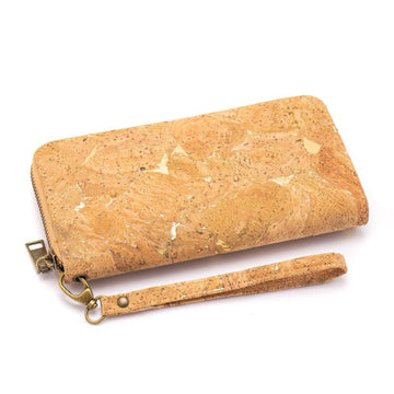 Aria Cork Purse Natural with Golden front