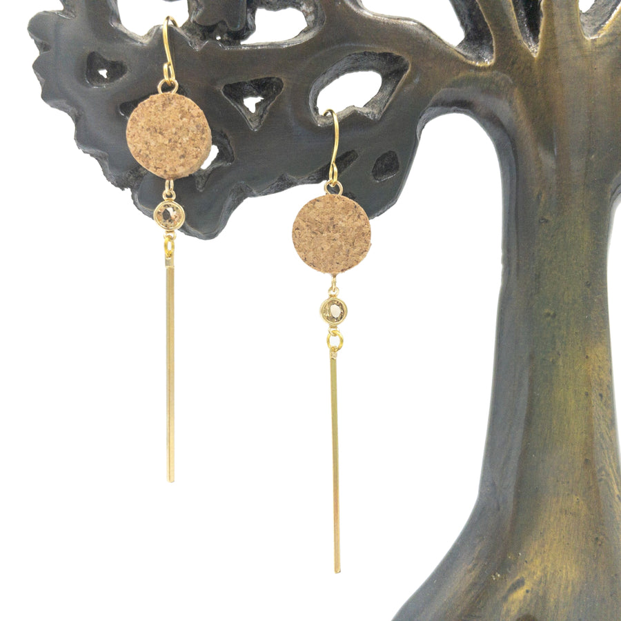 Baru Cork Earrings drop