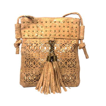 Celeste Cork Bag Natural with Golden
