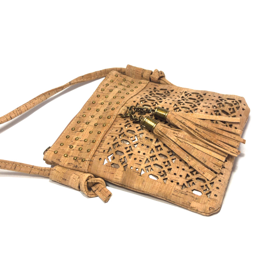 Celeste Cork Bag Natural side