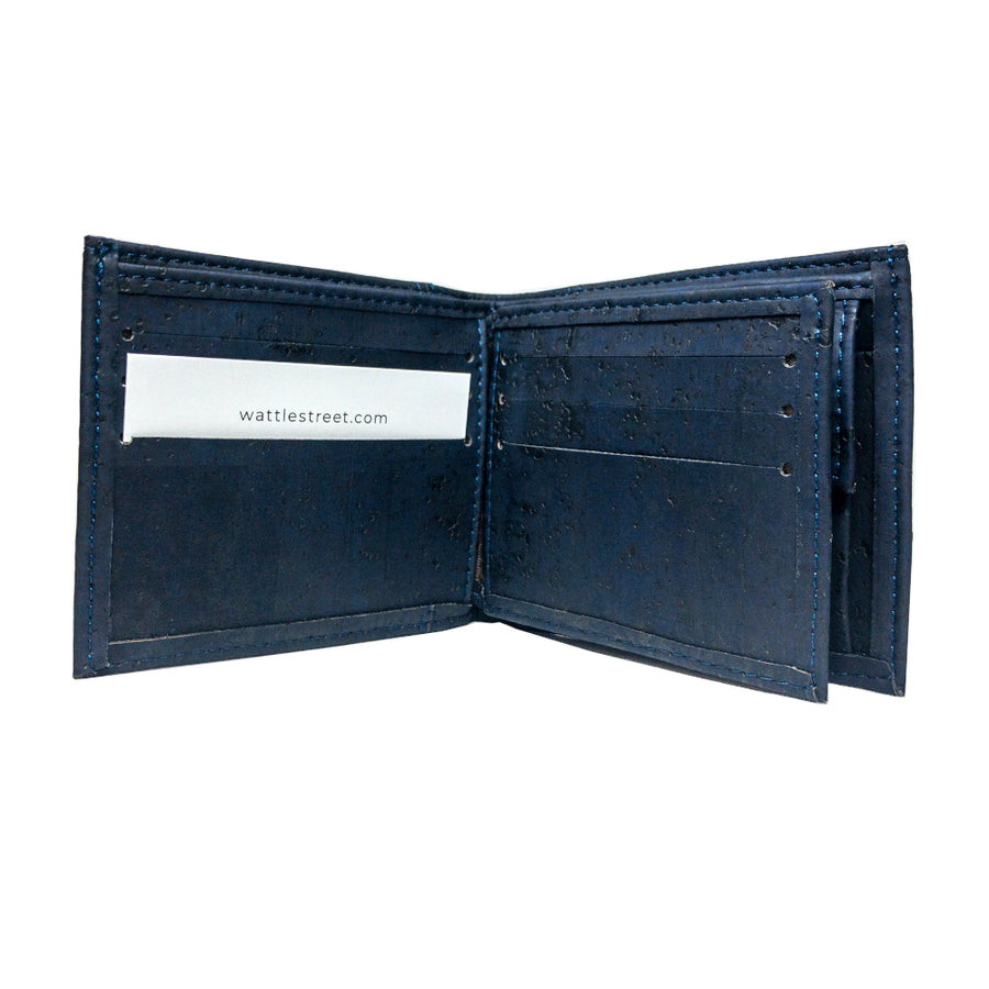 Cru Cork Wallet Black card slots