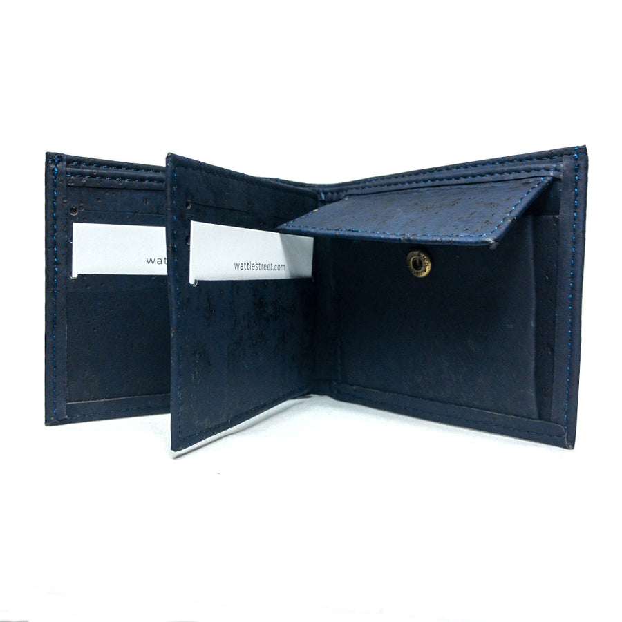 Cru Cork Wallet Black coin pocket