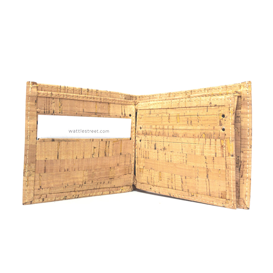 Cru Cork Wallet Natural card slots