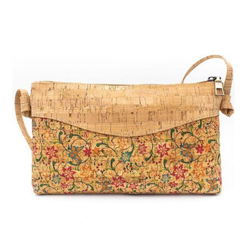 Jessa Cork Crossbody Bag Flower Vine front