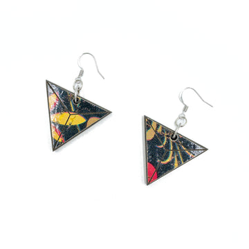 Kee Wood Earrings Triangle Pop Art top