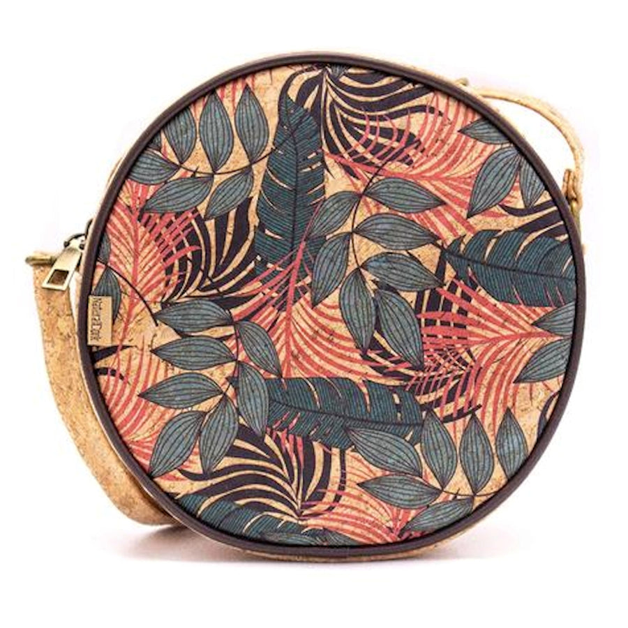 Leilani Cork Round Crossbody Bag Tropical front