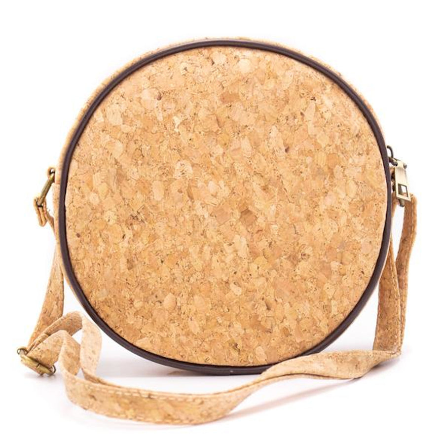Leilani Cork Round Crossbody Bag Tropical back