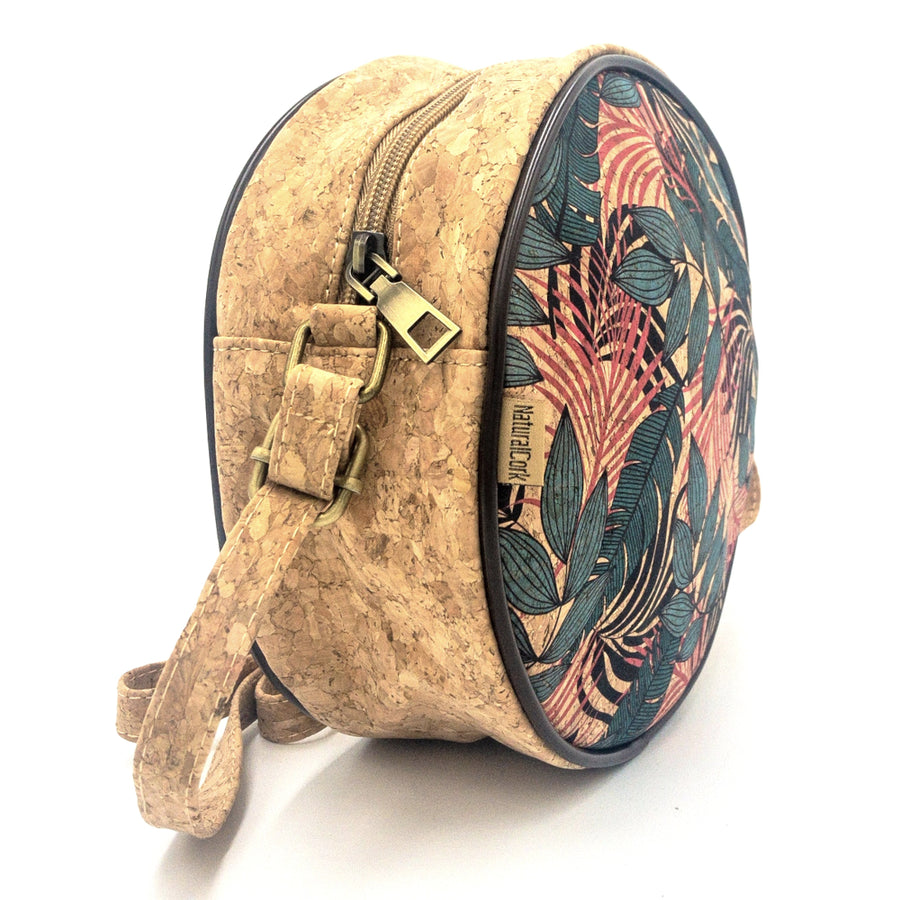 Leilani Cork Round Crossbody Bag Tropical side