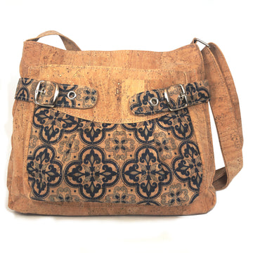 Nova Cork Shoulder Bag Blue front