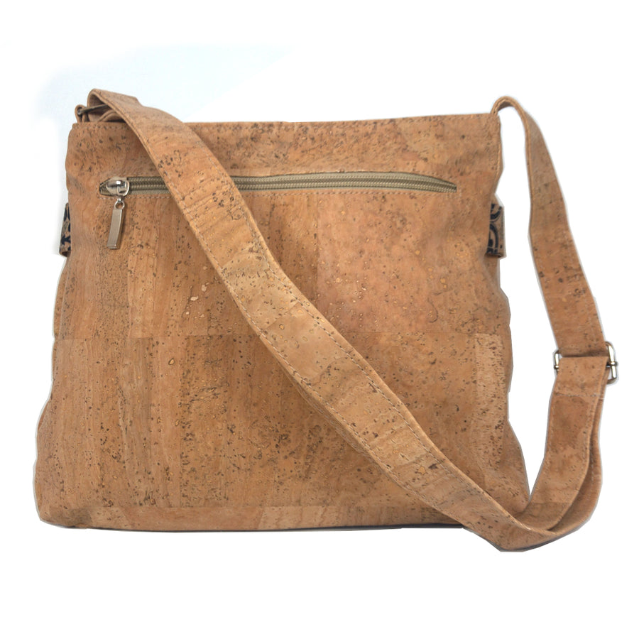 Nova Cork Shoulder Bag Blue back