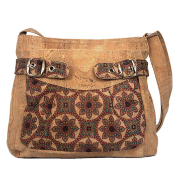 Nova Cork Shoulder Bag Red front