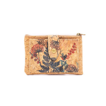 Primrose Cork Coin Purse with Cardholder front