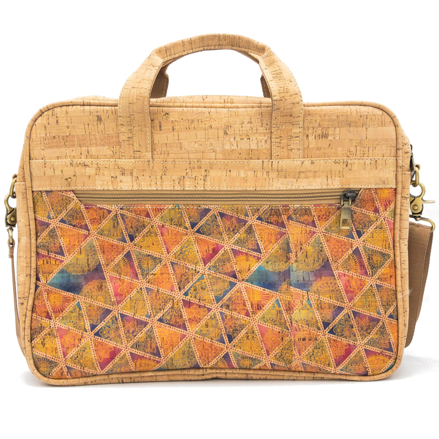 Quinn Cork Laptop Bag Pastel Geo front