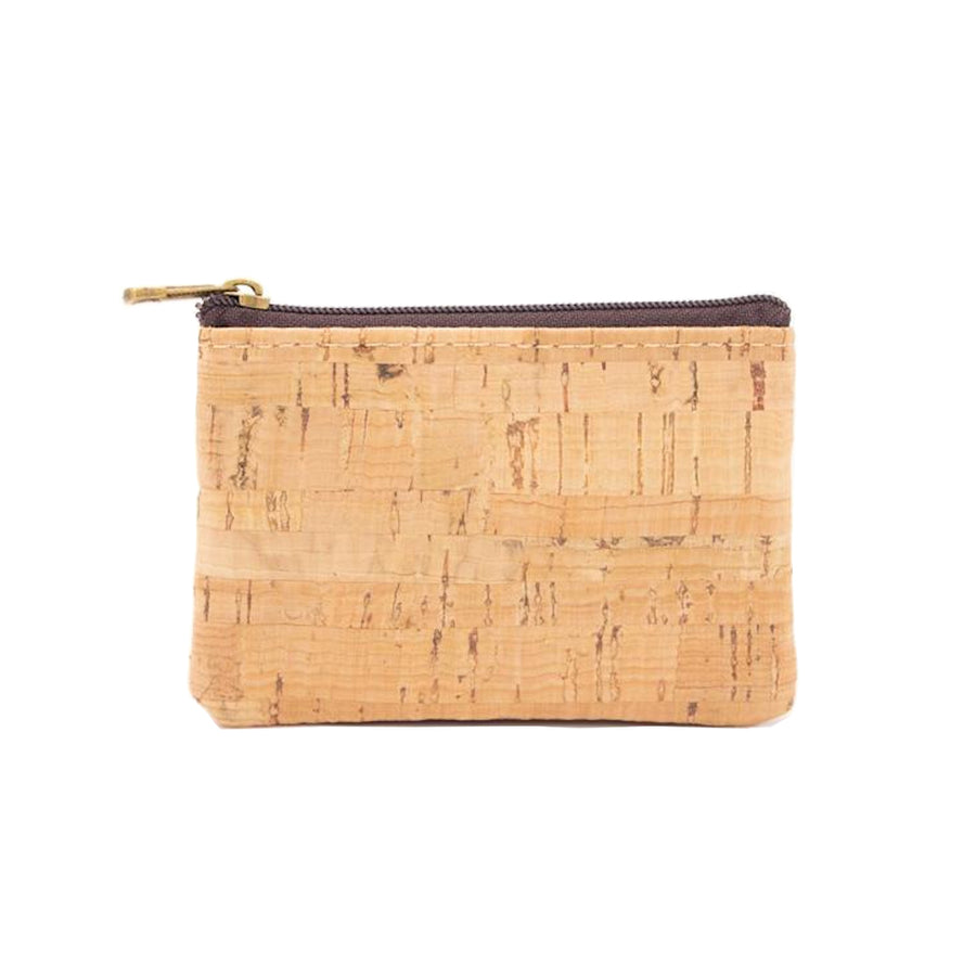 Romy Cork Coin Purse Botanical Black back