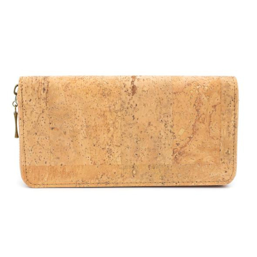 Tabitha Cork Purse Natural with Black Laser Cut back