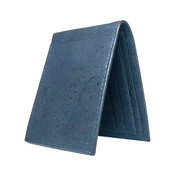 Zed Cork Wallet Navy front