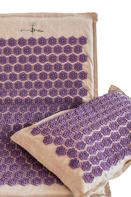 Acupressure Mat and Pillow organic purple