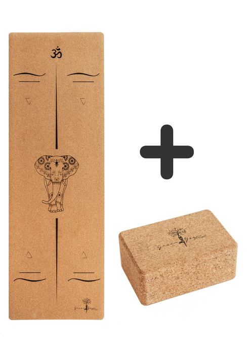 Gajah and Block Bundle - Green Yoga Project