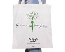 Load image into Gallery viewer, Green Yoga Project Bag Cotton Eco-friendly