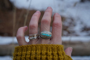 A River Runs Through It Ring- Size 5.75