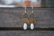 Load image into Gallery viewer, First Light Brass Earrings
