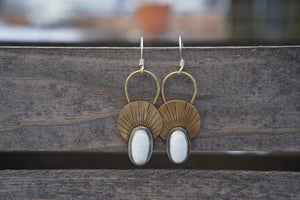 First Light Brass Earrings