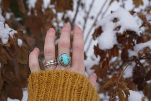 Essential Ring- Carico Lake Turquoise, Size 7