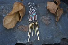 Load image into Gallery viewer, Be Free Convertible Fringe Earrings- Royston Ribbon