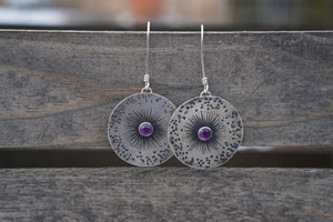 Guiding Star Earrings- Amethyst