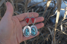 Load image into Gallery viewer, Pinnacle Earrings- Rosarita and Turquoise